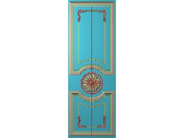 OUHQ101-JDP格式欧式护墙板精雕图欧式洋花浮雕电脑精雕图洋花护墙板雕刻图(含灰度图)