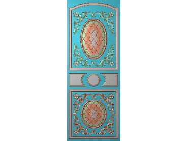 OUHQ105-JDP格式欧式护墙板精雕图欧式洋花浮雕电脑精雕图洋花护墙板雕刻图(含灰度图)