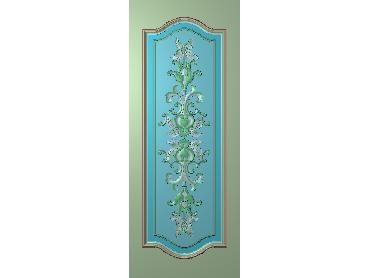 OUHQ107-JDP格式欧式护墙板精雕图欧式洋花浮雕电脑精雕图洋花护墙板雕刻图(含灰度图)