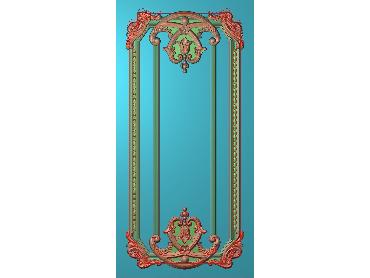 OUHQ110-JDP格式欧式护墙板精雕图欧式洋花浮雕电脑精雕图洋花护墙板雕刻图(含灰度图)