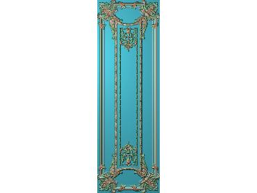 OUHQ113-JDP格式欧式护墙板精雕图欧式洋花浮雕电脑精雕图洋花护墙板雕刻图(含灰度图)