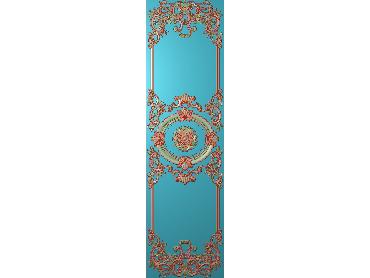 OUHQ114-JDP格式欧式护墙板精雕图欧式洋花浮雕电脑精雕图洋花护墙板雕刻图(含灰度图)