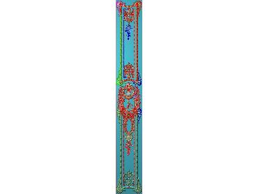 OUHQ117-JDP格式欧式护墙板精雕图欧式洋花浮雕电脑精雕图洋花护墙板雕刻图(含灰度图)