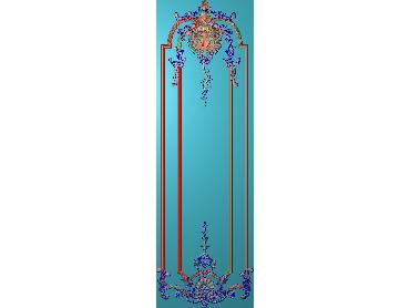 OUHQ120-JDP格式欧式护墙板精雕图欧式洋花浮雕电脑精雕图洋花护墙板雕刻图(含灰度图)