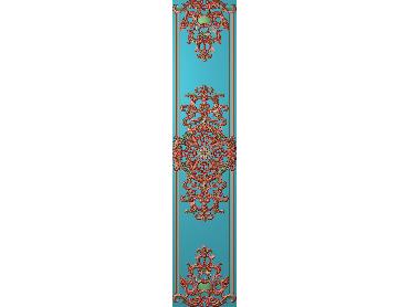 OUHQ126-JDP格式欧式护墙板精雕图欧式洋花浮雕电脑精雕图洋花护墙板雕刻图(含灰度图)