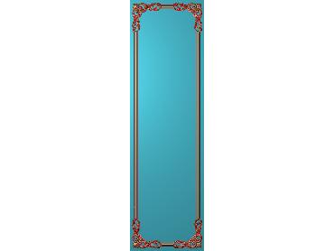 OUHQ131-JDP格式欧式护墙板精雕图欧式洋花浮雕电脑精雕图洋花护墙板雕刻图(含灰度图)