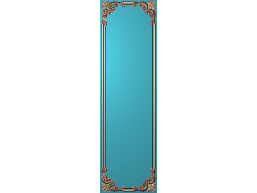 OUHQ133-JDP格式欧式护墙板精雕图欧式洋花浮雕电脑精雕图洋花护墙板雕刻图(含灰度图)