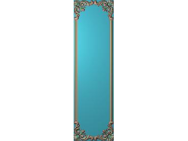 OUHQ134-JDP格式欧式护墙板精雕图欧式洋花浮雕电脑精雕图洋花护墙板雕刻图(含灰度图)