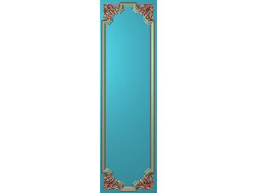 OUHQ138-JDP格式欧式护墙板精雕图欧式洋花浮雕电脑精雕图洋花护墙板雕刻图(含灰度图)