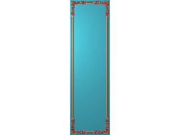 OUHQ141-JDP格式欧式护墙板精雕图欧式洋花浮雕电脑精雕图洋花护墙板雕刻图(含灰度图)