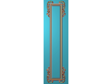 OUHQ142-JDP格式欧式护墙板精雕图欧式洋花浮雕电脑精雕图洋花护墙板雕刻图(含灰度图)