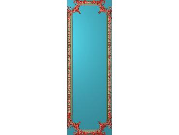 OUHQ147-JDP格式欧式护墙板精雕图欧式洋花浮雕电脑精雕图洋花护墙板雕刻图(含灰度图)