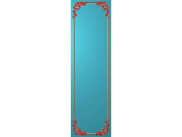 OUHQ149-JDP格式欧式护墙板精雕图欧式洋花浮雕电脑精雕图洋花护墙板雕刻图(含灰度图)