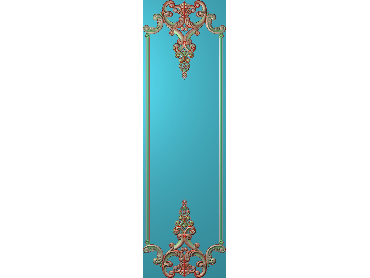 OUHQ151-JDP格式欧式护墙板精雕图欧式洋花浮雕电脑精雕图洋花护墙板雕刻图(含灰度图)