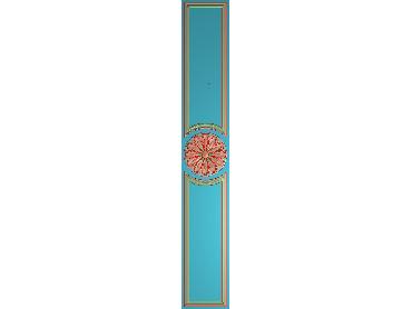 OUHQ159-JDP格式欧式护墙板精雕图欧式洋花浮雕电脑精雕图洋花护墙板雕刻图(含灰度图)