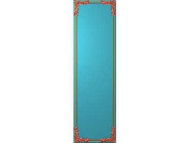 OUHQ162-JDP格式欧式护墙板精雕图欧式洋花浮雕电脑精雕图洋花护墙板雕刻图(含灰度图)