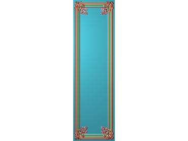 OUHQ164-JDP格式欧式护墙板精雕图欧式洋花浮雕电脑精雕图洋花护墙板雕刻图(含灰度图)