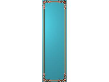 OUHQ165-JDP格式欧式护墙板精雕图欧式洋花浮雕电脑精雕图洋花护墙板雕刻图(含灰度图)