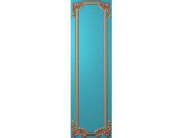 OUHQ170-JDP格式欧式护墙板精雕图欧式洋花浮雕电脑精雕图洋花护墙板雕刻图(含灰度图)