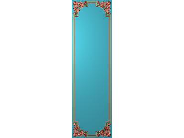 OUHQ171-JDP格式欧式护墙板精雕图欧式洋花浮雕电脑精雕图洋花护墙板雕刻图(含灰度图)