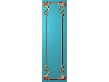 OUHQ172-JDP格式欧式护墙板精雕图欧式洋花浮雕电脑精雕图洋花护墙板雕刻图(含灰度图)