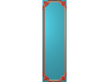 OUHQ174-JDP格式欧式护墙板精雕图欧式洋花浮雕电脑精雕图洋花护墙板雕刻图(含灰度图)