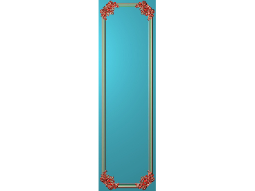 OUHQ175-JDP格式欧式护墙板精雕图欧式洋花浮雕电脑精雕图洋花护墙板雕刻图(含灰度图)