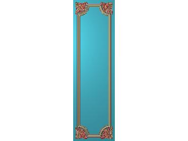 OUHQ180-JDP格式欧式护墙板精雕图欧式洋花浮雕电脑精雕图洋花护墙板雕刻图(含灰度图)