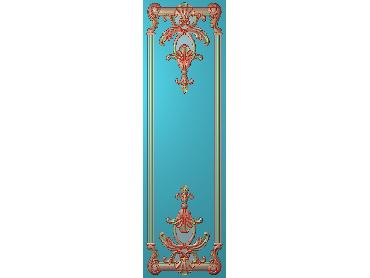 OUHQ184-JDP格式欧式护墙板精雕图欧式洋花浮雕电脑精雕图洋花护墙板雕刻图(含灰度图)