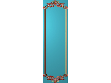 OUHQ191-JDP格式欧式护墙板精雕图欧式洋花浮雕电脑精雕图洋花护墙板雕刻图(含灰度图)