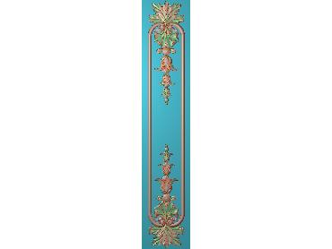 OUHQ197-JDP格式欧式护墙板精雕图欧式洋花浮雕电脑精雕图洋花护墙板雕刻图(含灰度图)