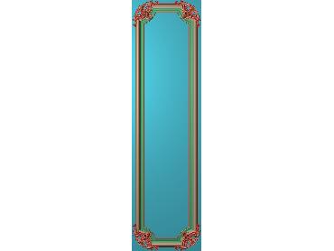 OUHQ203-JDP格式欧式护墙板精雕图欧式洋花浮雕电脑精雕图洋花护墙板雕刻图(含灰度图)