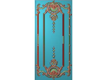 OUHQ205-JDP格式欧式护墙板精雕图欧式洋花浮雕电脑精雕图