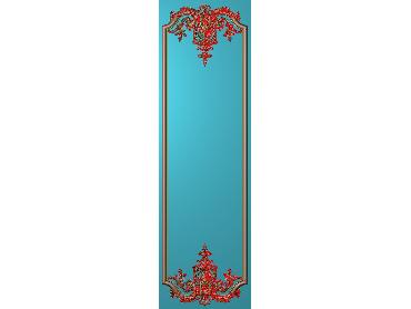 OUHQ206-JDP格式欧式护墙板精雕图欧式洋花浮雕电脑精雕图洋花护墙板雕刻图(含灰度图)