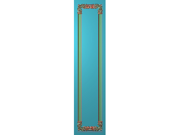 OUHQ207-JDP格式欧式护墙板精雕图欧式洋花浮雕电脑精雕图洋花护墙板雕刻图(含灰度图)