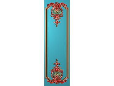 OUHQ208-JDP格式欧式护墙板精雕图欧式洋花浮雕电脑精雕图洋花护墙板雕刻图(含灰度图)