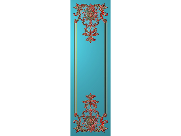OUHQ209-JDP格式欧式护墙板精雕图欧式洋花浮雕电脑精雕图洋花护墙板雕刻图(含灰度图)