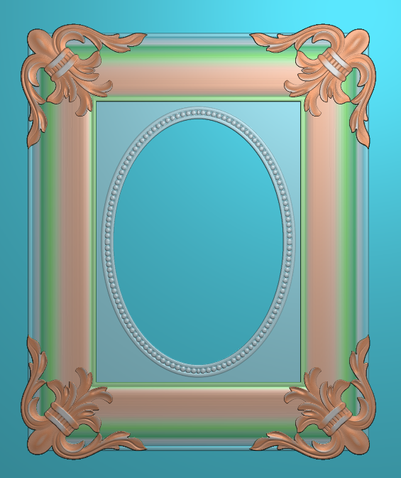 欧式浮雕,欧式镜框,欧式镜框精雕图,洋花镜框精雕图,镜框浮雕电脑雕刻图