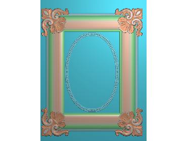OSJK006-JDP格式欧式镜框精雕图洋花镜框精雕图镜框浮雕电脑雕刻图下载