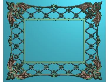 OSJK030-JDP格式欧式镜框精雕图洋花镜框精雕图镜框浮雕电脑雕刻图