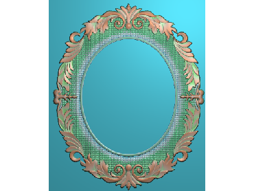 OSJK057-JDP格式欧式花边镜框精雕图洋花相框精雕图镜框浮雕电脑雕刻图