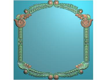 OSJK059-JDP格式欧式花边镜框精雕图洋花相框精雕图镜框浮雕电脑雕刻图