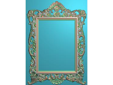 OSJK062-JDP格式欧式方形镜框精雕图洋花相框精雕图镜框浮雕电脑雕刻图