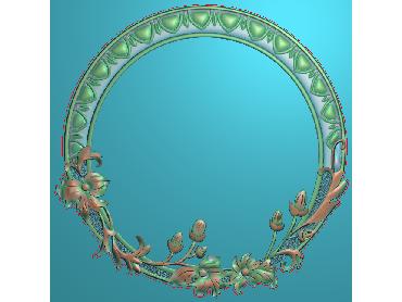 OSJK063-JDP格式欧式花边镜框精雕图洋花相框精雕图镜框浮雕电脑雕刻图