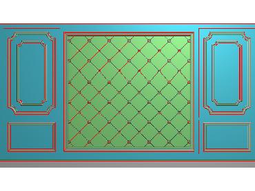 OBJQ037-JDP格式欧式整体背景墙精雕图电视背景墙电脑雕刻图背景墙浮雕精雕图(含灰度图)