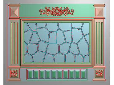 OBJQ042-JDP格式欧式整体背景墙精雕图电视背景墙电脑雕刻图背景墙浮雕精雕图(含灰度图)