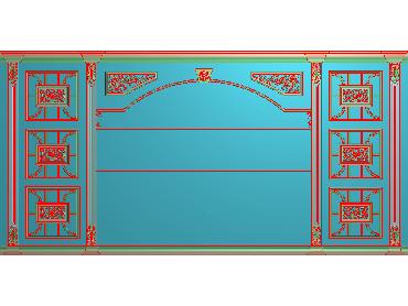 OBJQ046-JDP格式欧式整体背景墙精雕图电视背景墙电脑雕刻图背景墙浮雕精雕图(含灰度图)