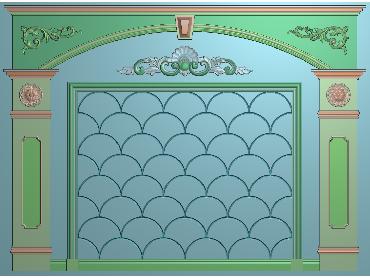 OBJQ054-JDP格式欧式整体背景墙精雕图电视背景墙电脑雕刻图背景墙浮雕精雕图