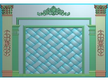 OBJQ059-JDP格式欧式整体背景墙精雕图电视背景墙电脑雕刻图背景墙浮雕精雕图