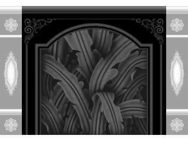 OBJQ071-JDP格式欧式整体背景墙精雕图电视背景墙电脑雕刻图背景墙浮雕精雕图(含灰度图)